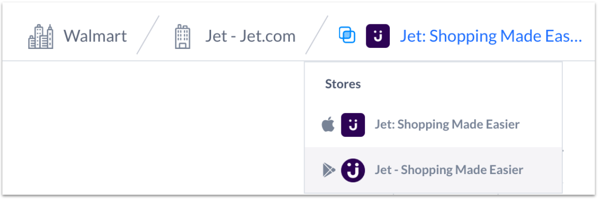 Jet.com Dropdown