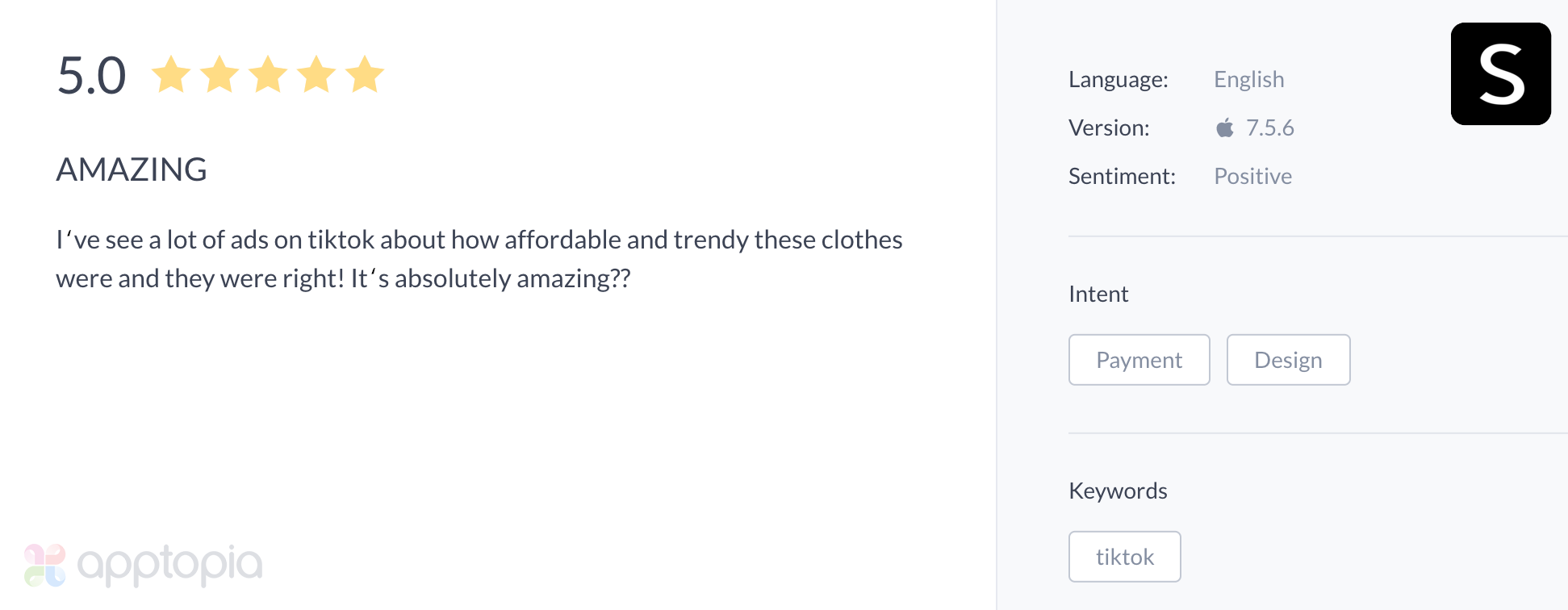 SHEIN app user review TikTok