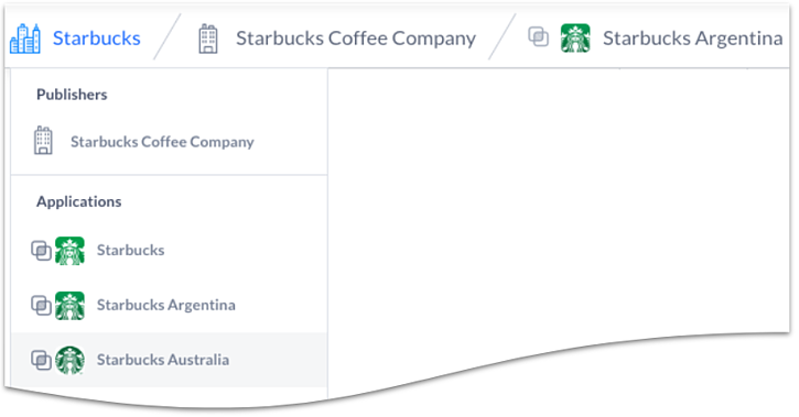 Starbucks Dropdown
