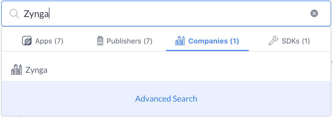Zynga Company Search